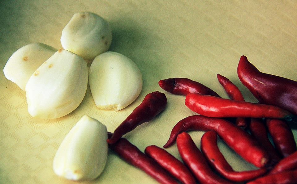Fiery thai chili and garlic
