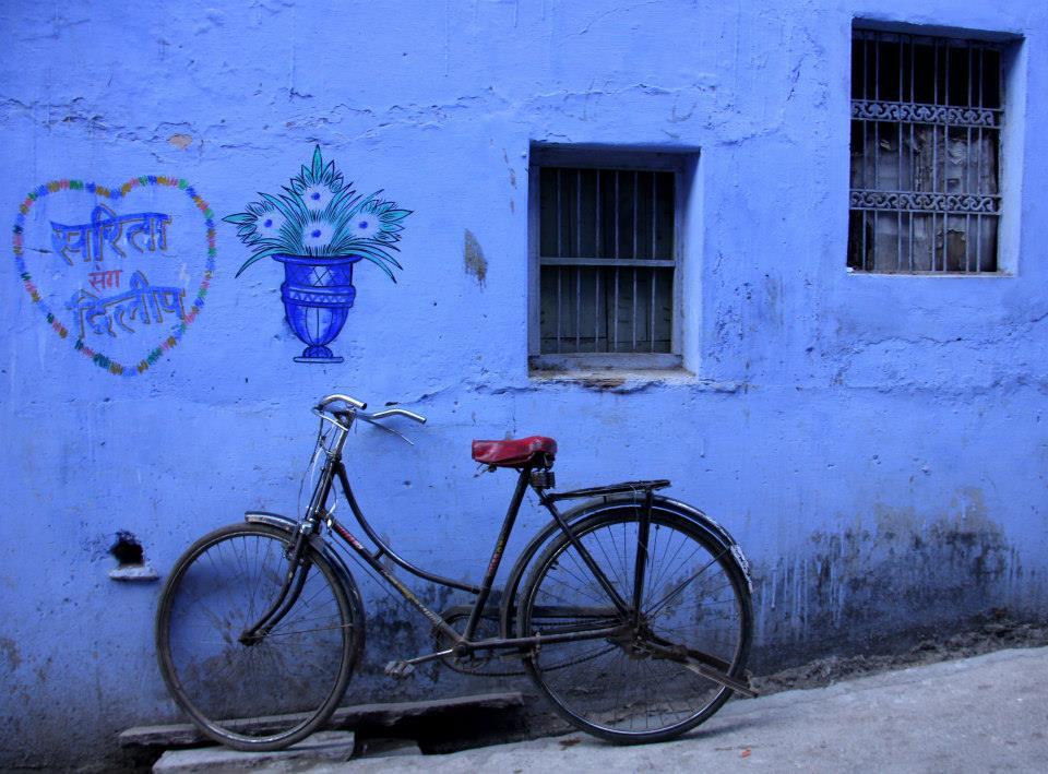 A blue town