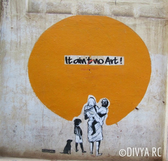 Thought provoking messages of Bengaluru street art