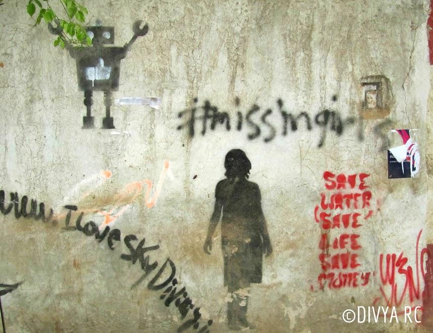 Bengaluru street art showcases women and girl trafficking in India