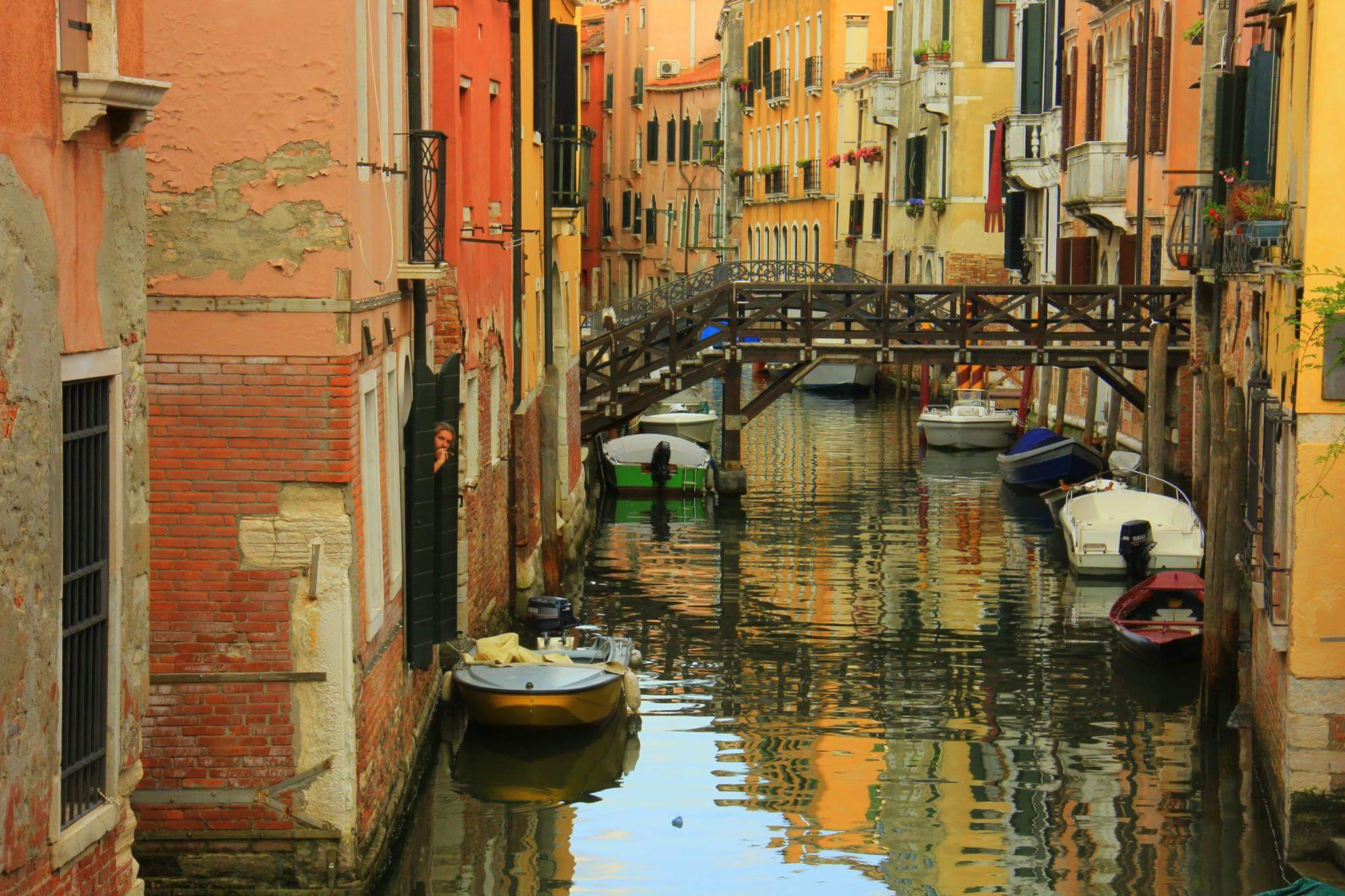 Reflections on a Venice canal