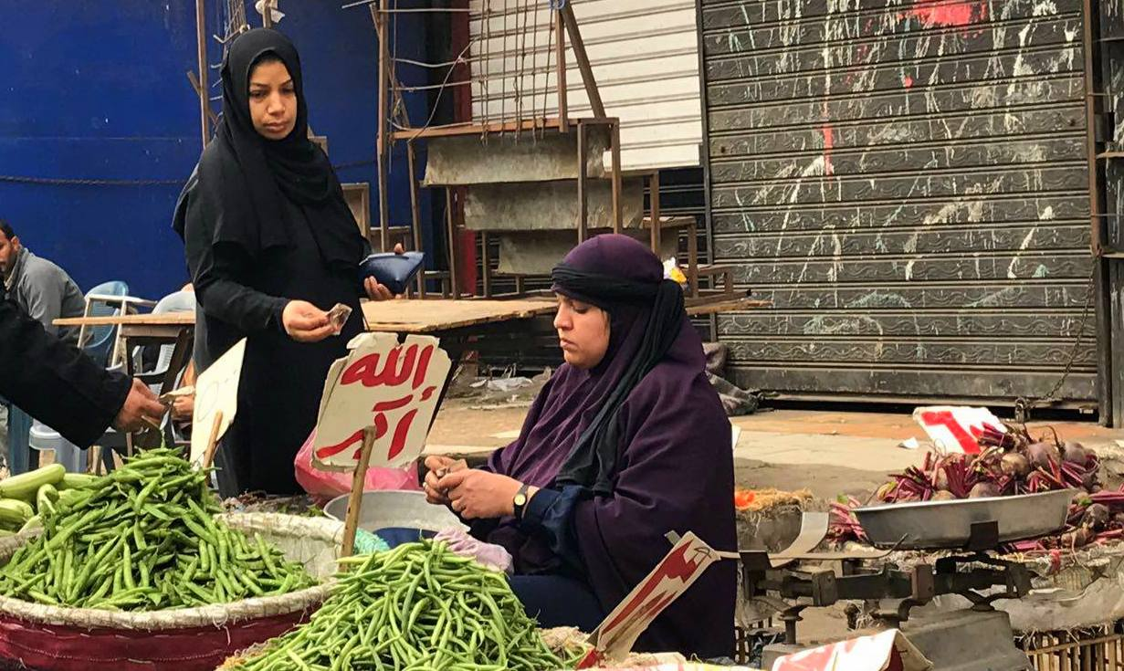 Shop women of local market in Cairo