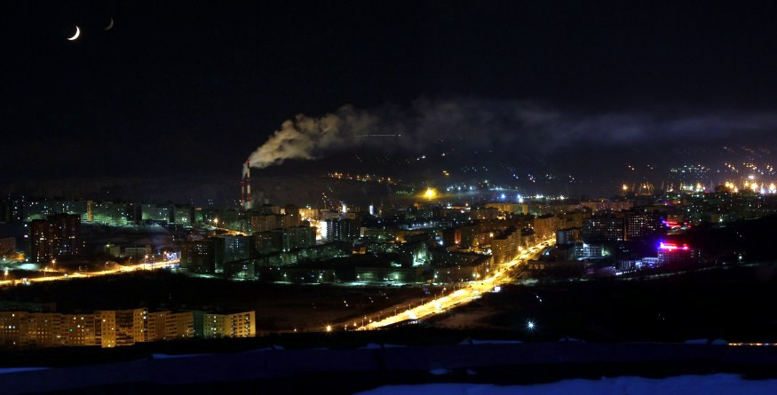 Murmansk night views