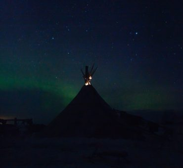Aurora Borealis and the museum island of Kizhi