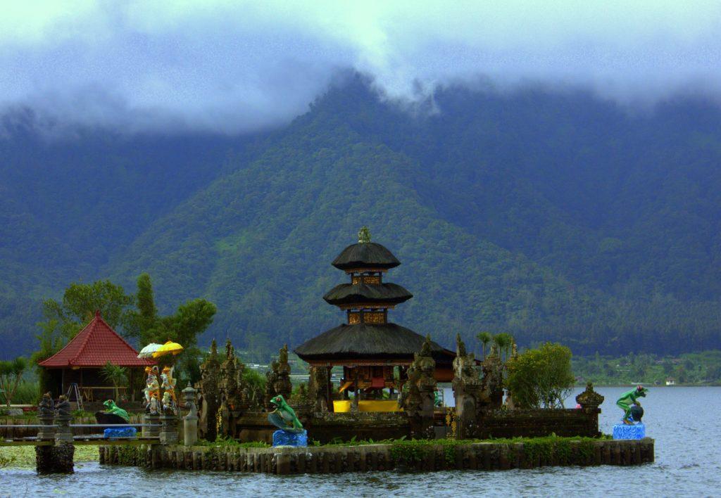 Lake Beratan Temple in Bedugul in Bali