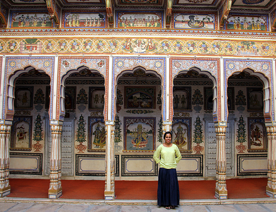 The gorgeous poddar haveli in shekhawati