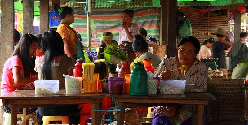 Lake Inle weekly markets are very photogenic
