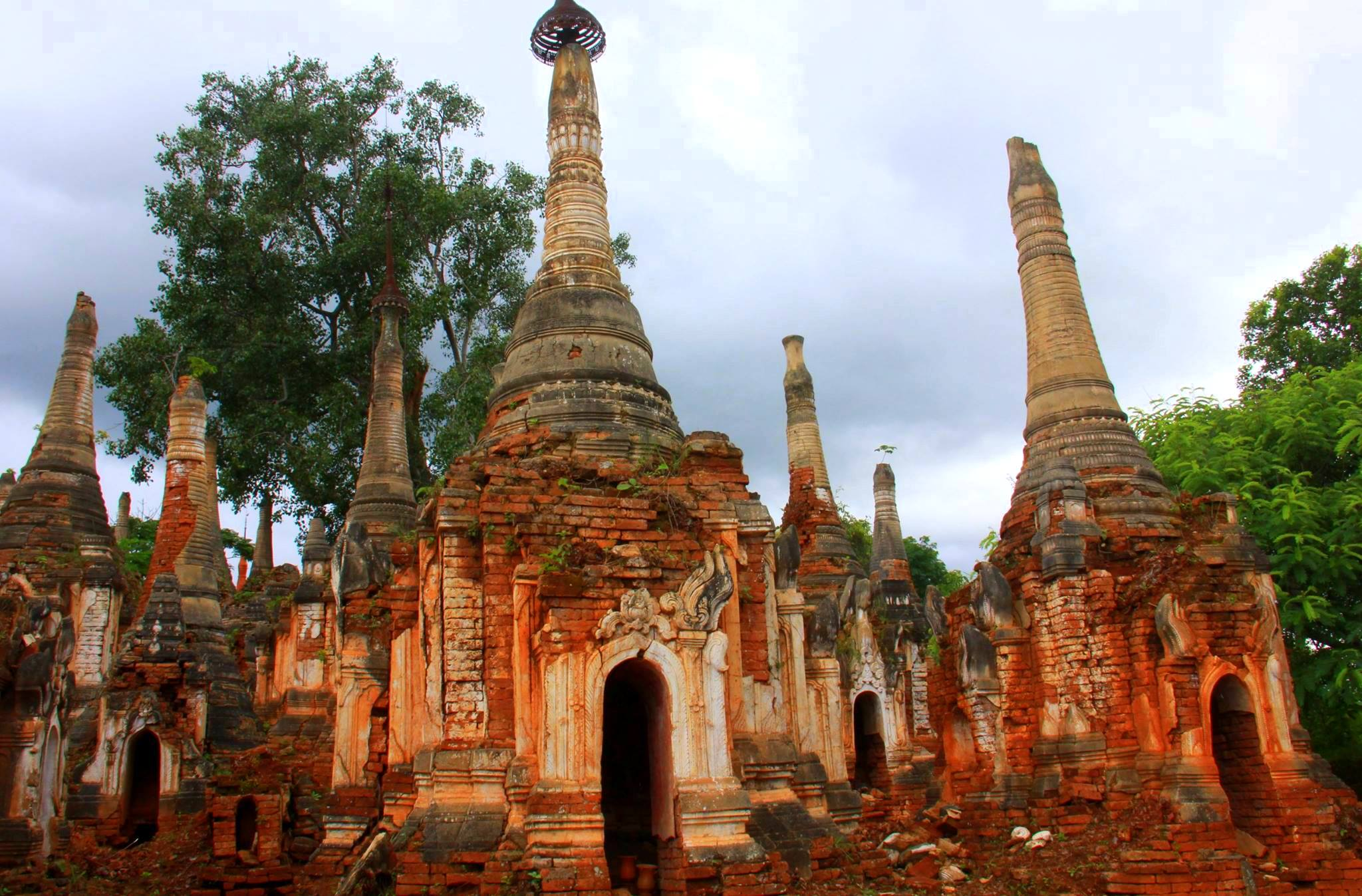 Old and ancient pagodas of Indein are a must visit