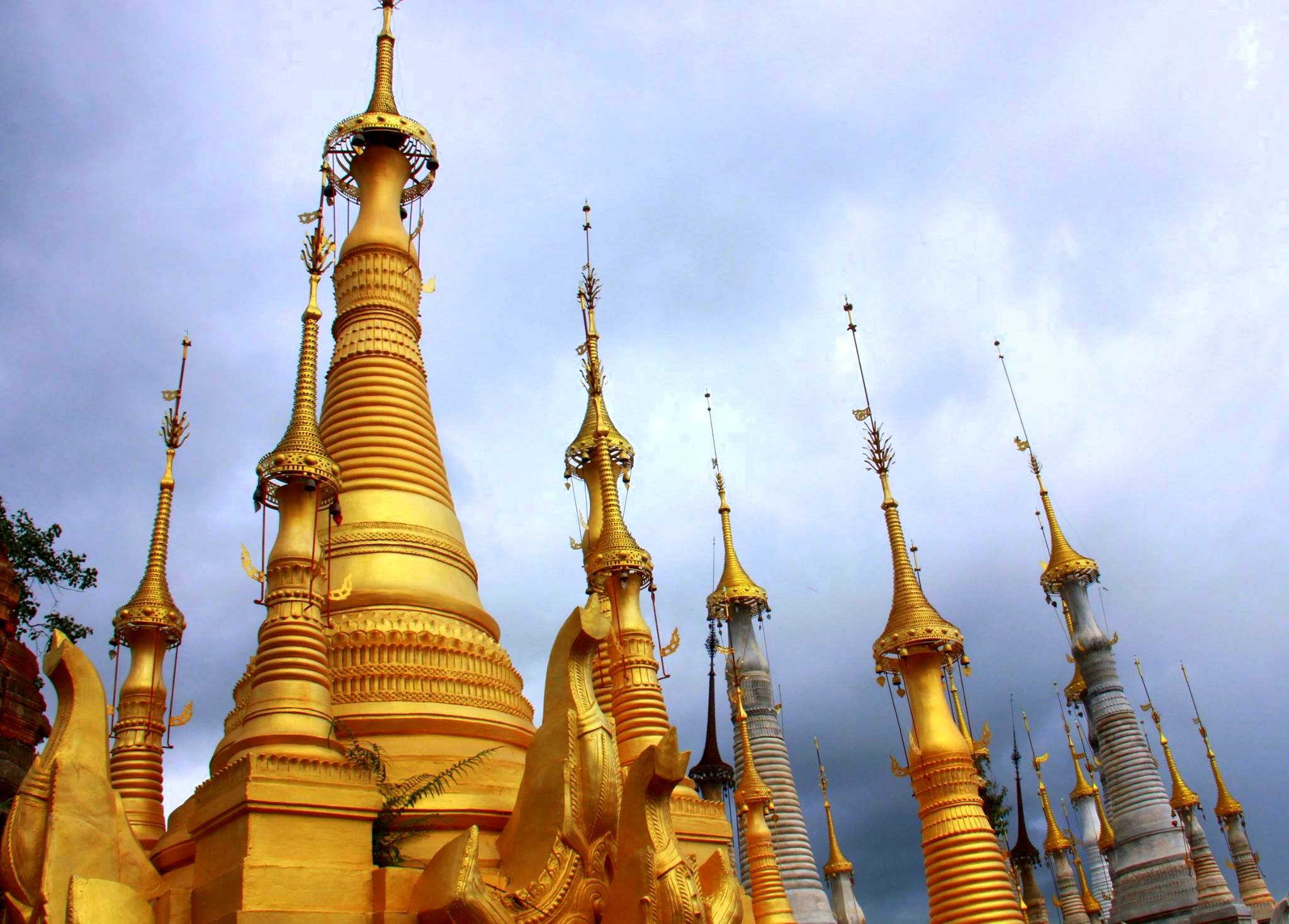 The pagodas of Indein is a big attraction
