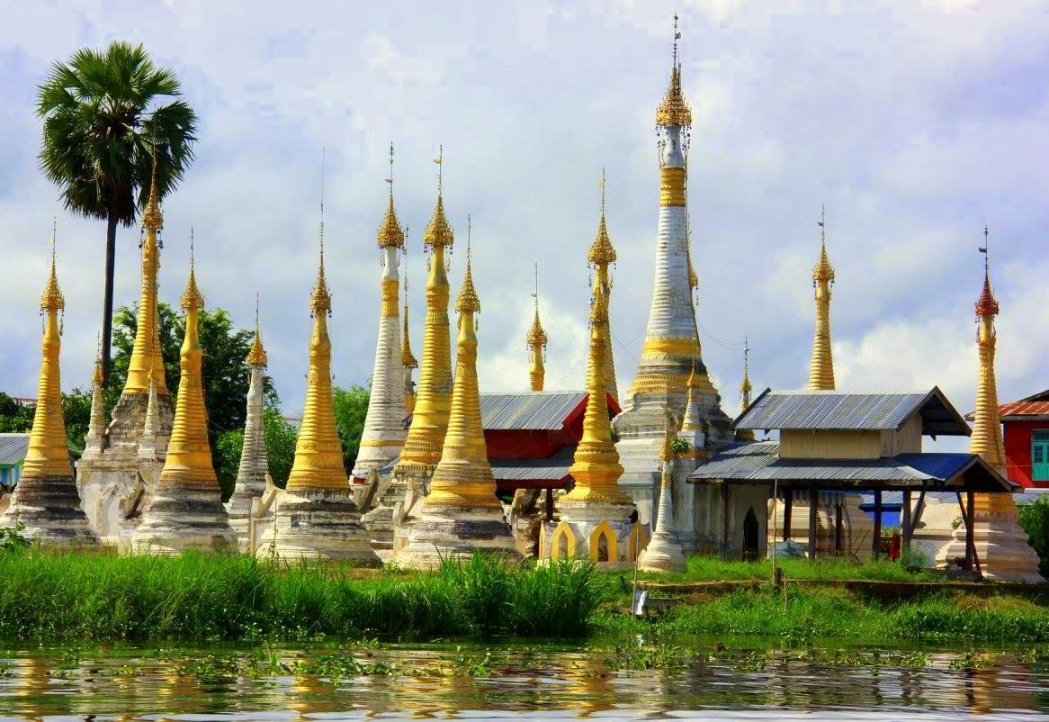 Half submerged pagodas of Samkar are a photogenic sight