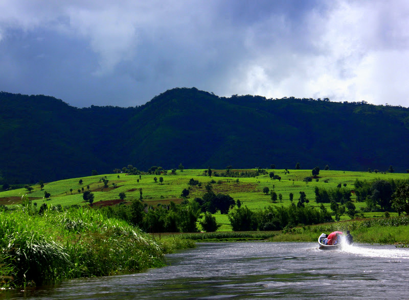 Hire a boat to explore lake Inle