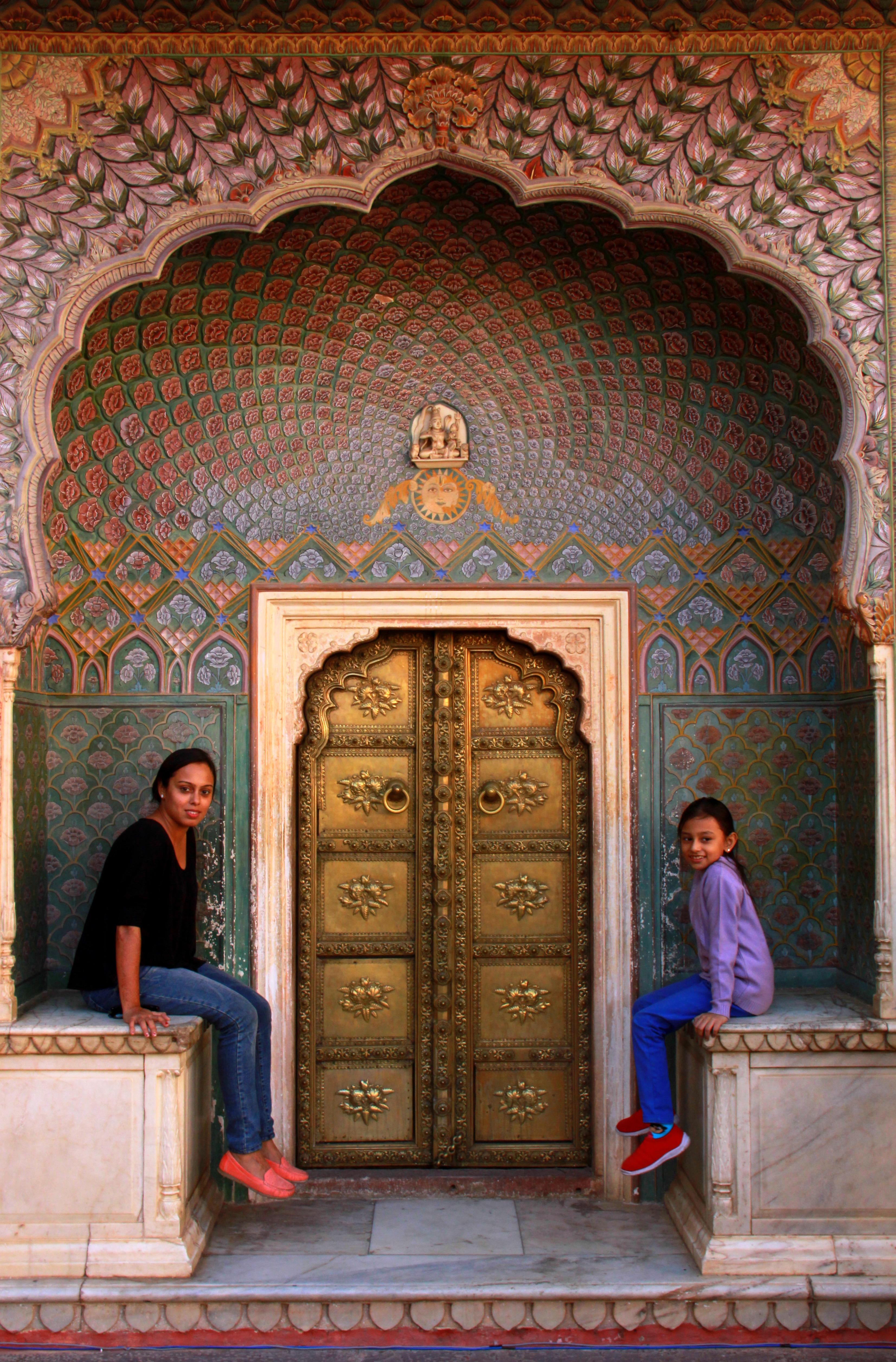 rose gate at City palace jaipur