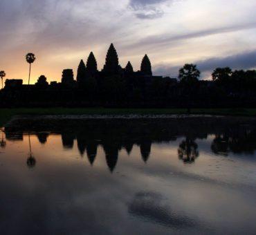 Catching the new year at Angkor Wat