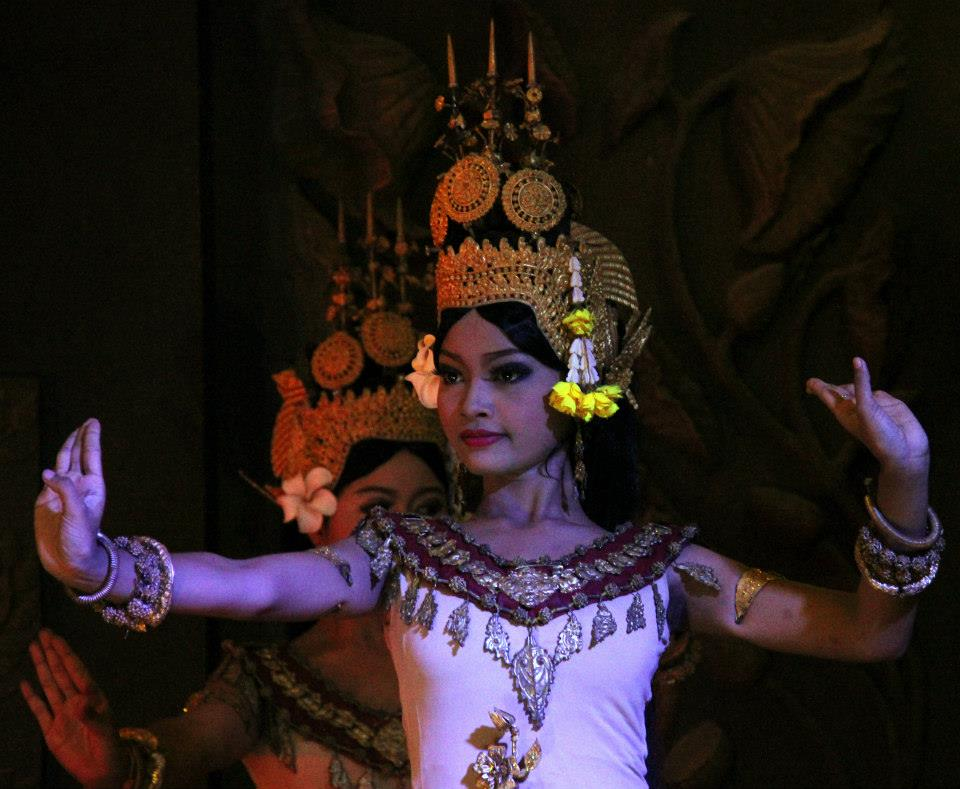 Apsara dance has beautiful costumes