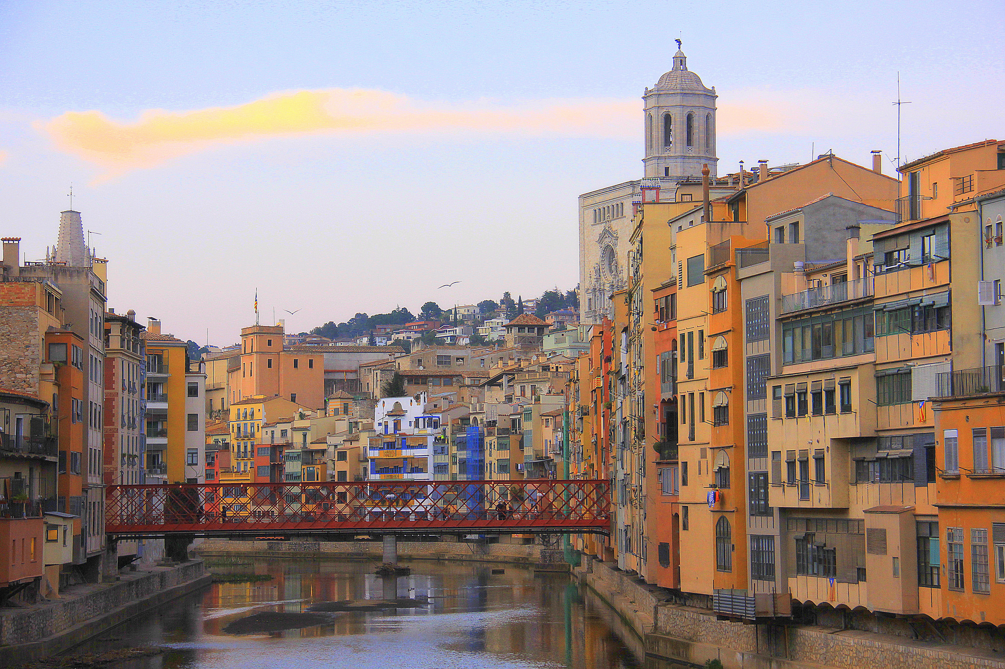 This shimmering waterfront reflection is one of the reasons why you should spend minimum 48 hours in Girona