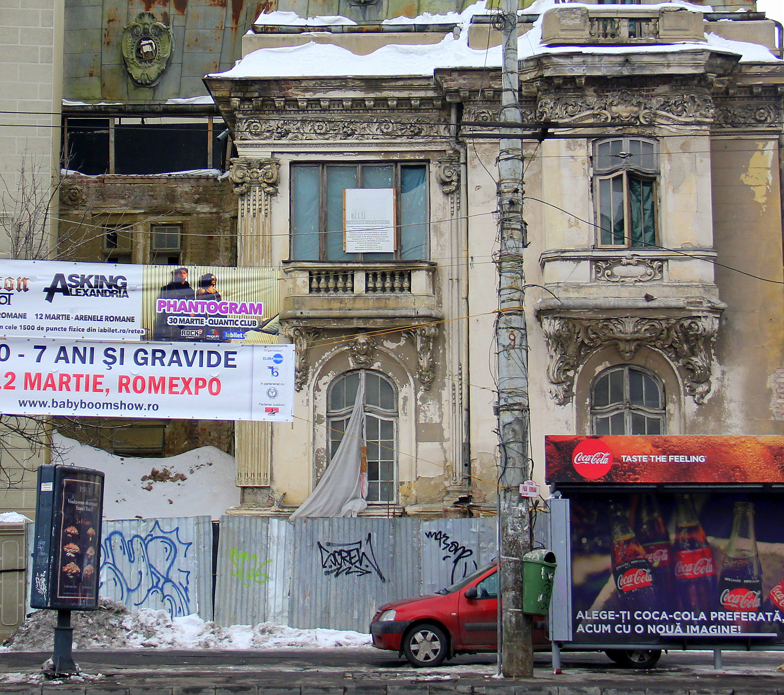 The state of urban decay in Bucharest Romania