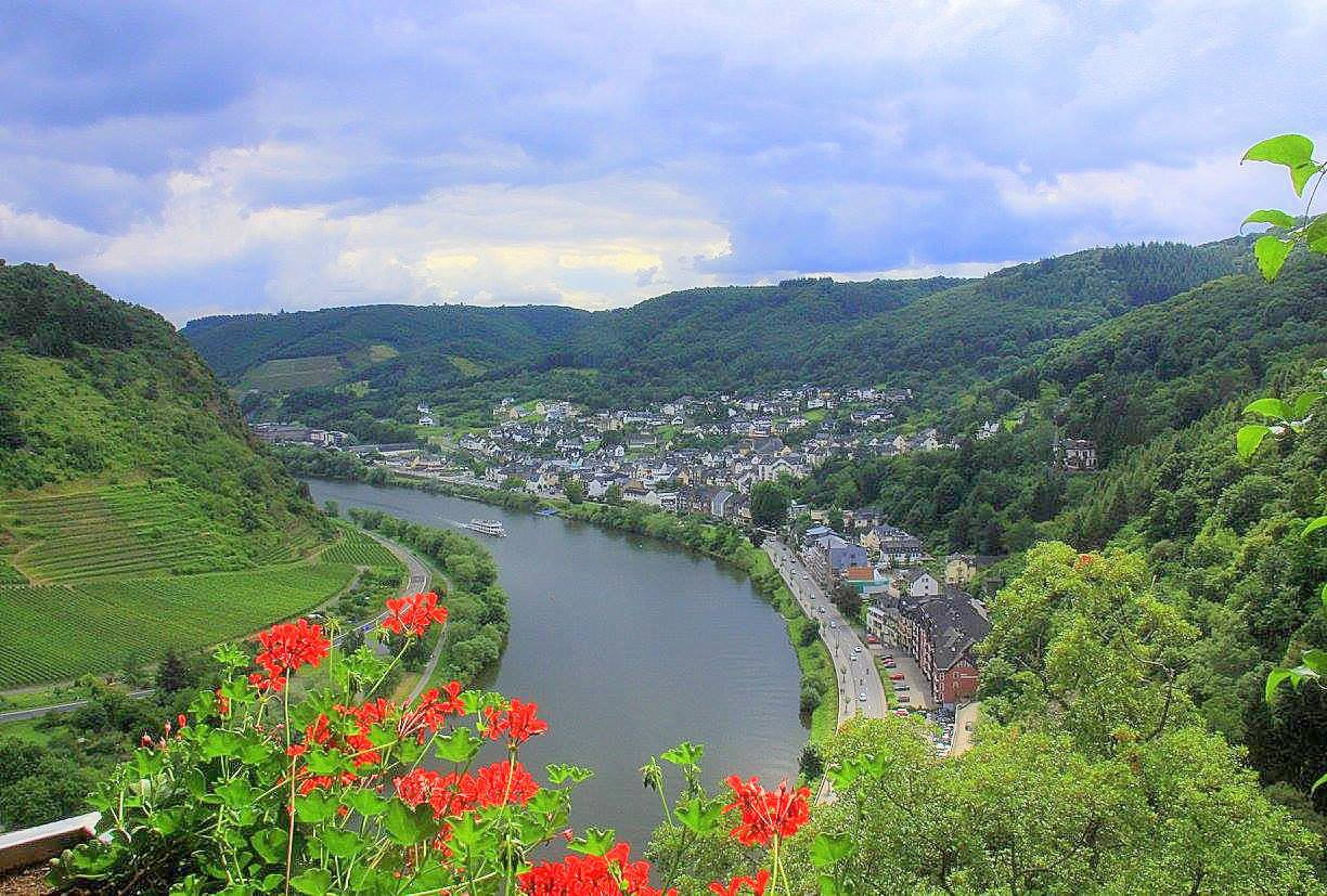 View of the Moselle Valley from the castle