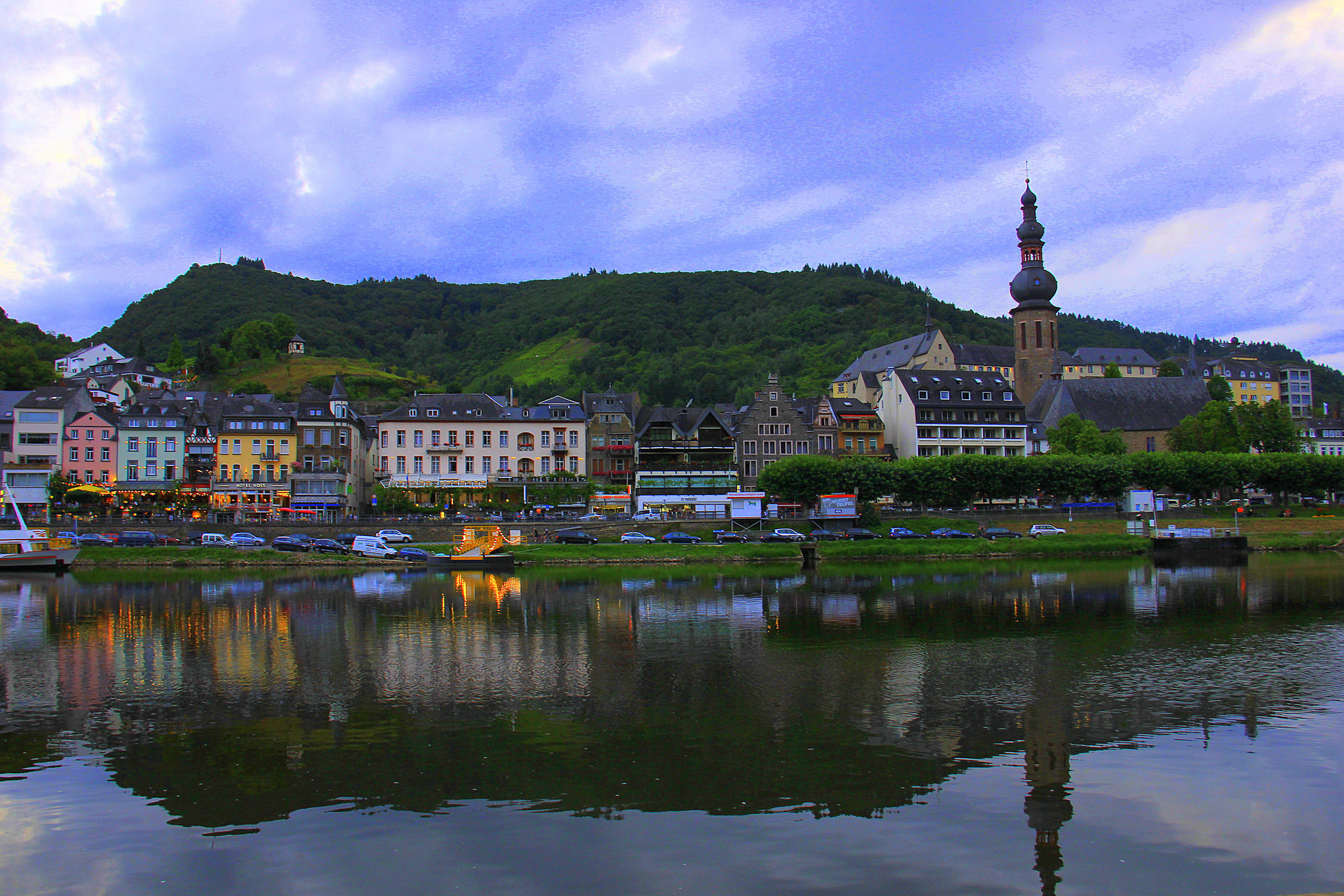 Cochem is on Moselle river