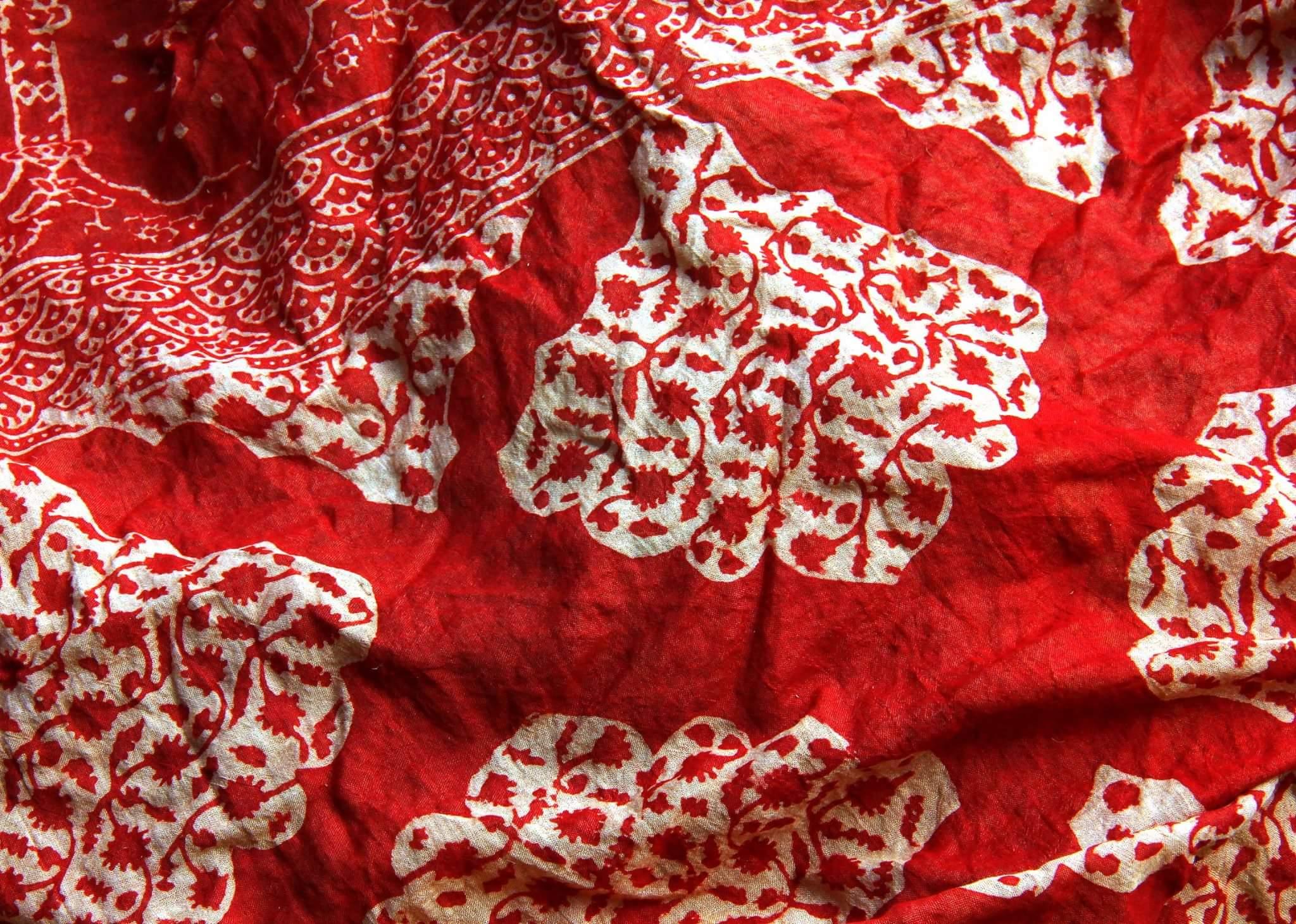 vibrant ajrakh print of gujarat