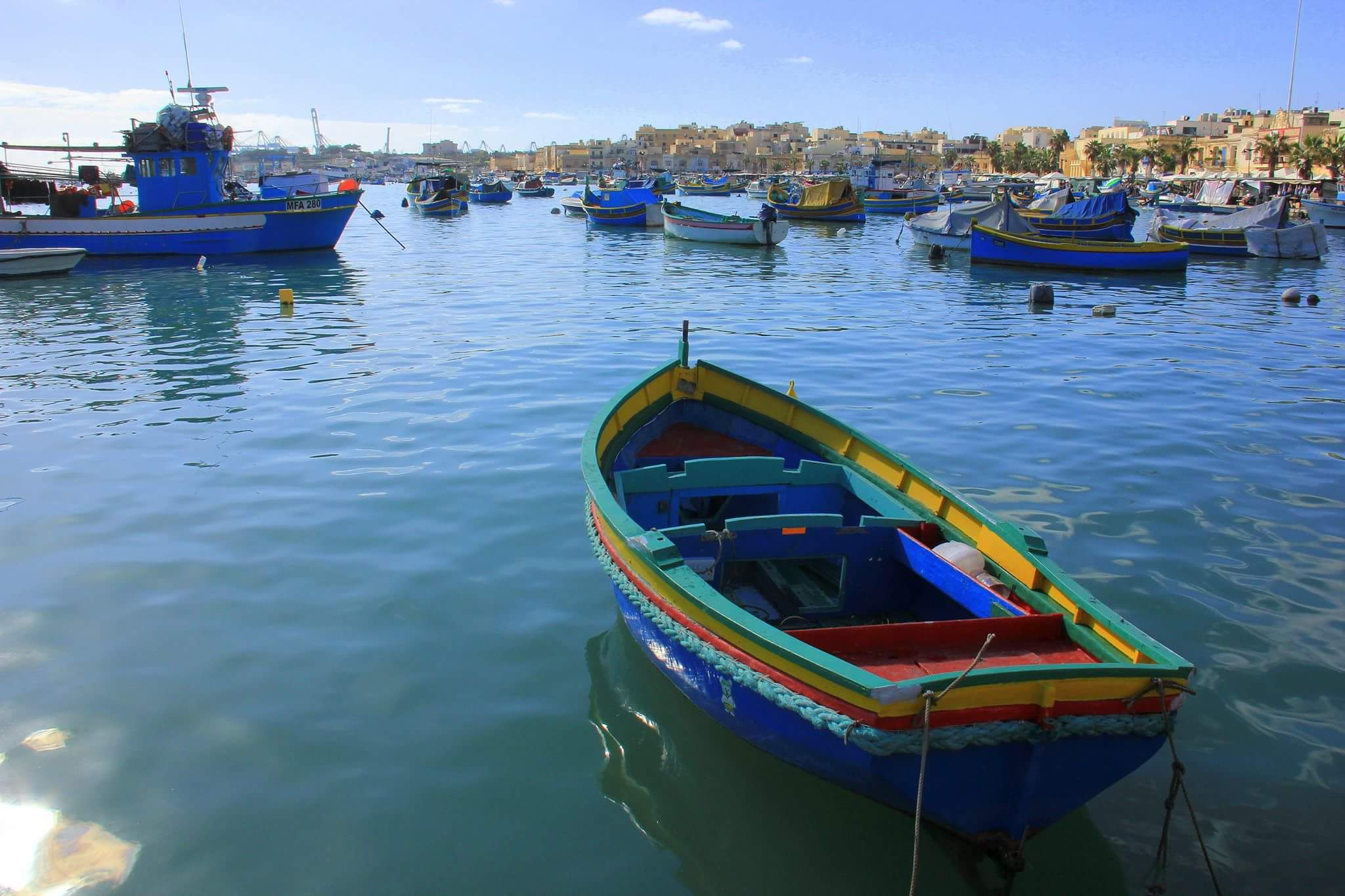 One of the sights that greet you when you visit Marsaxlokk
