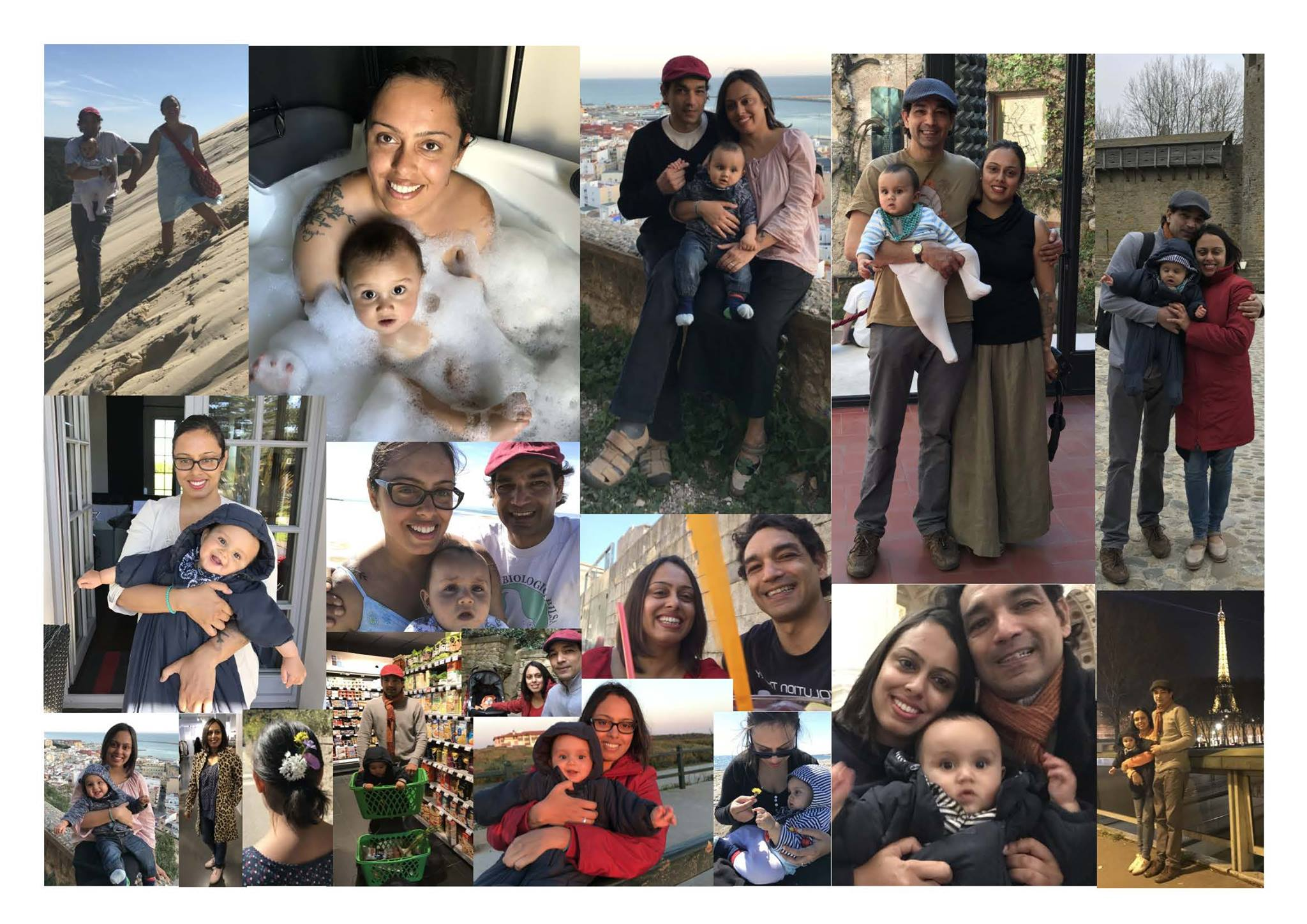 collage from our baby's first road trip