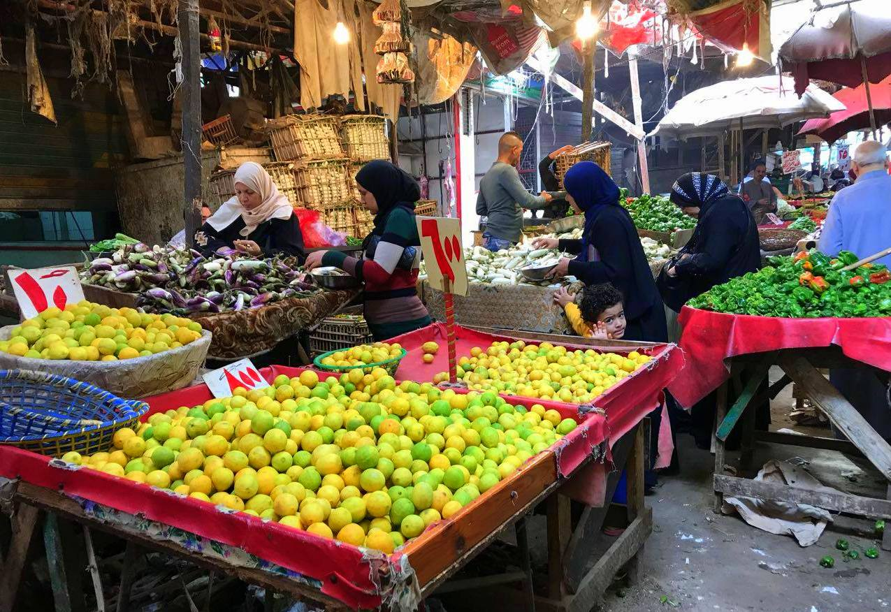 Lemons being sold in local market in Cairo