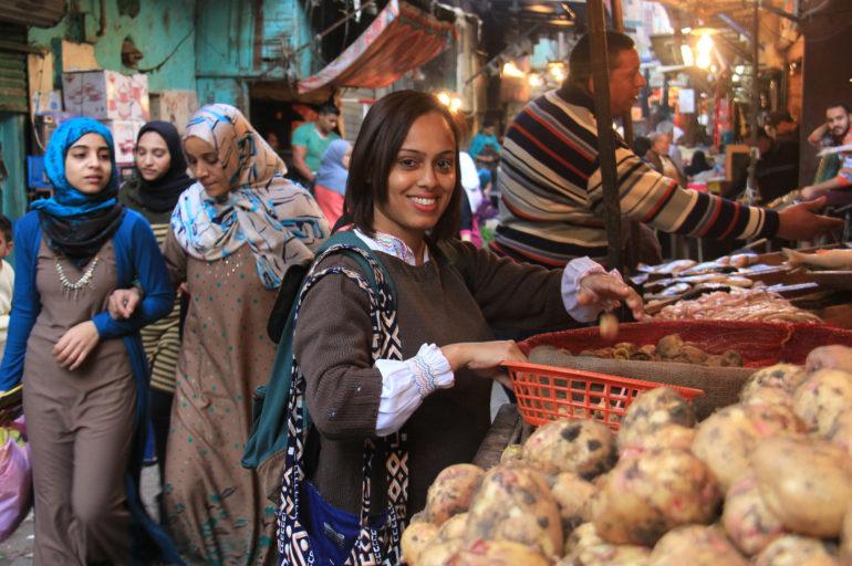 A local market in Cairo