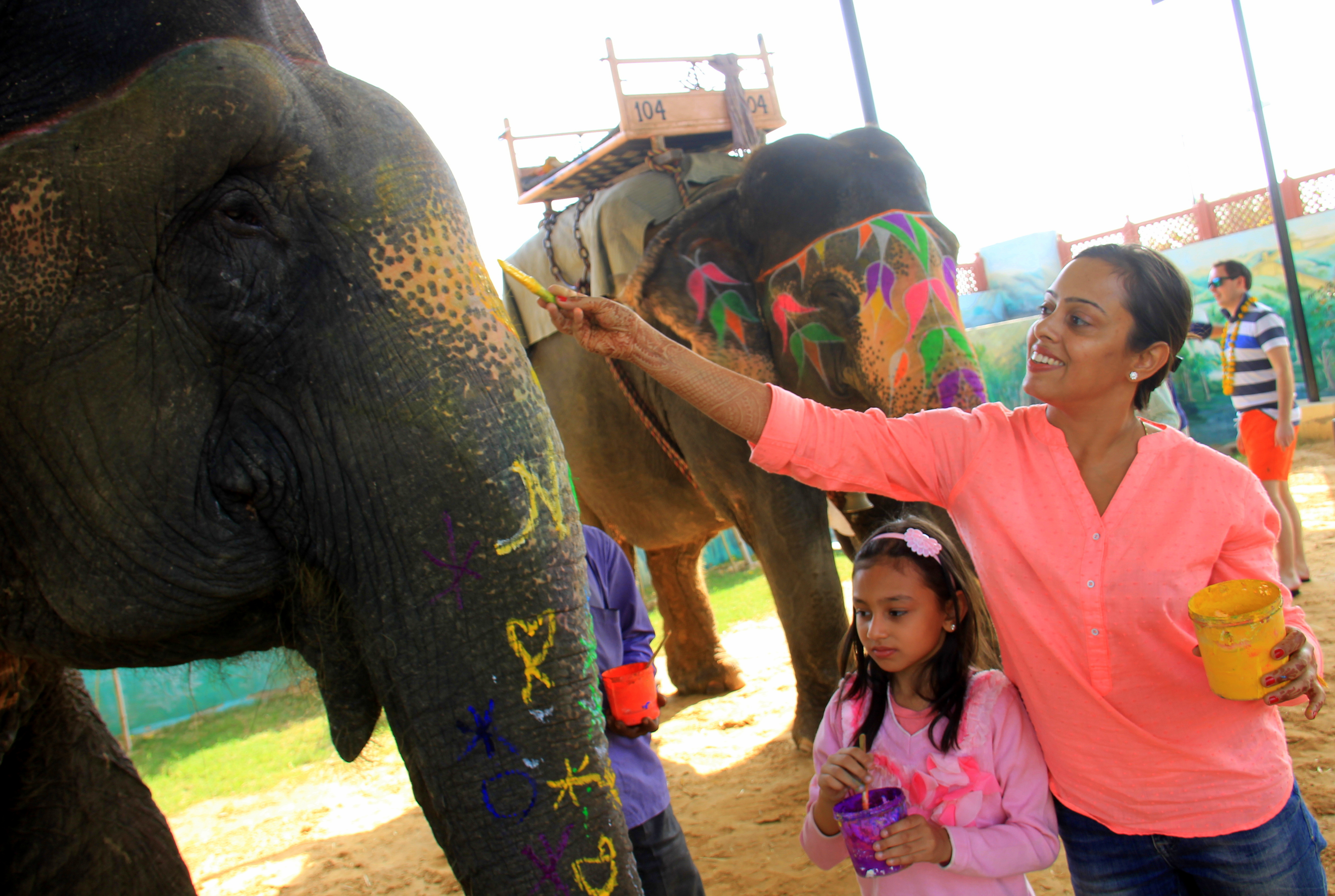 elephant painting is a fun activity in jaipur with kids