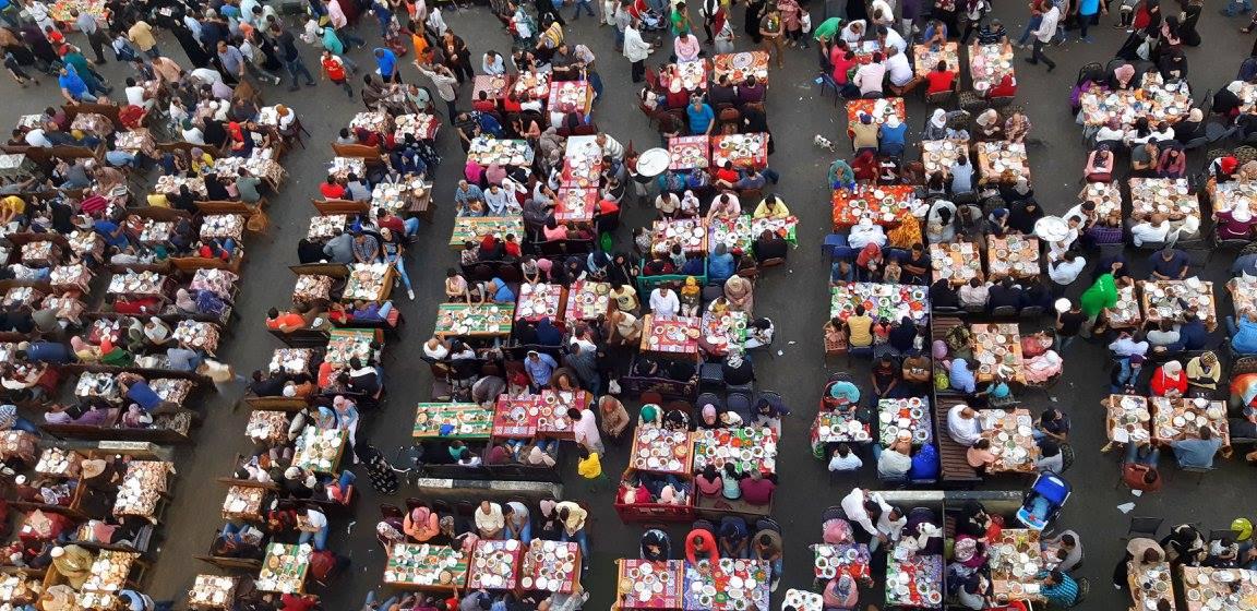 People waiting for Iftar at Cairo Ramadan