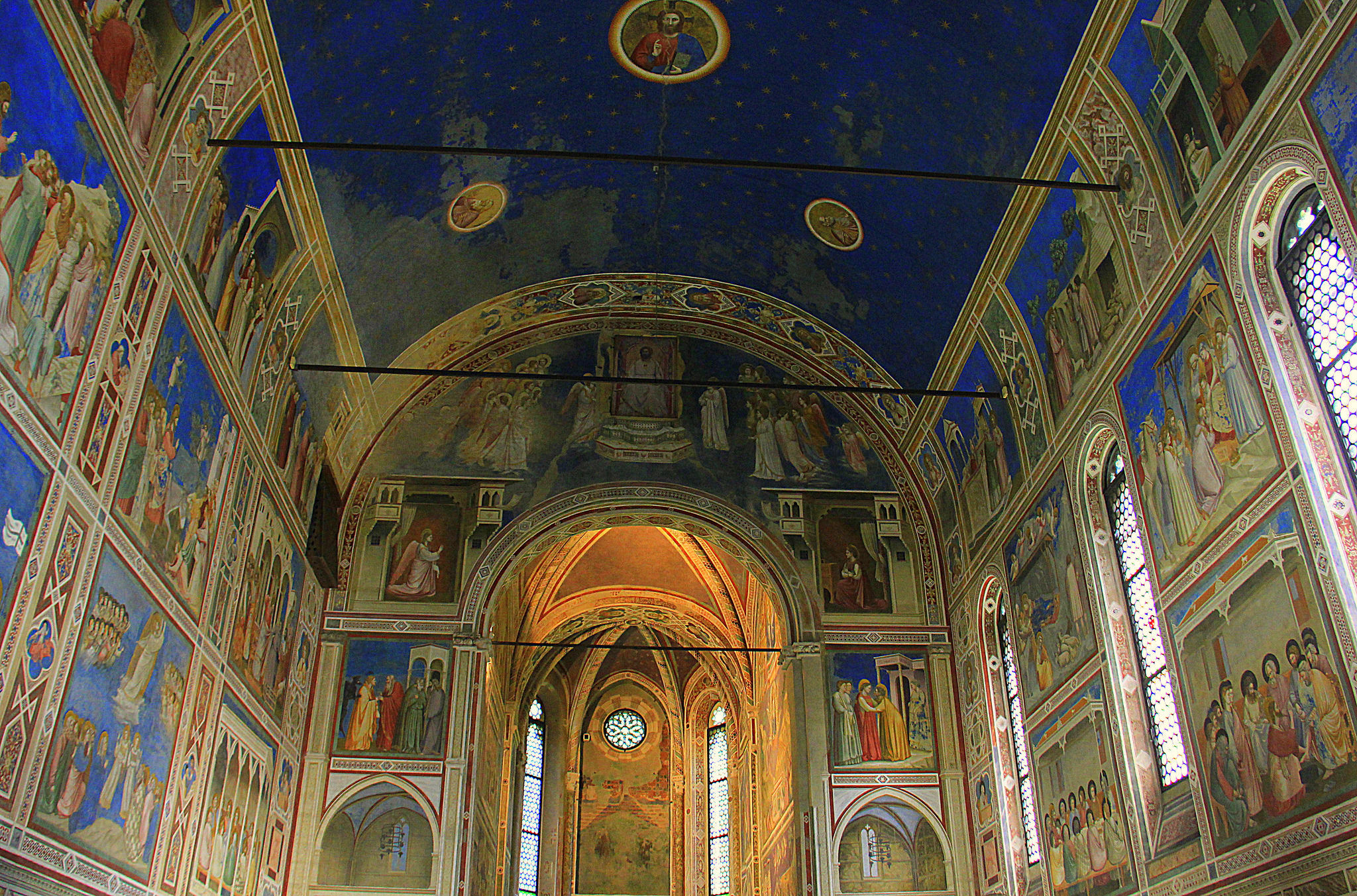 The Scrovegni Chapel in Padua has beautiful frescoes