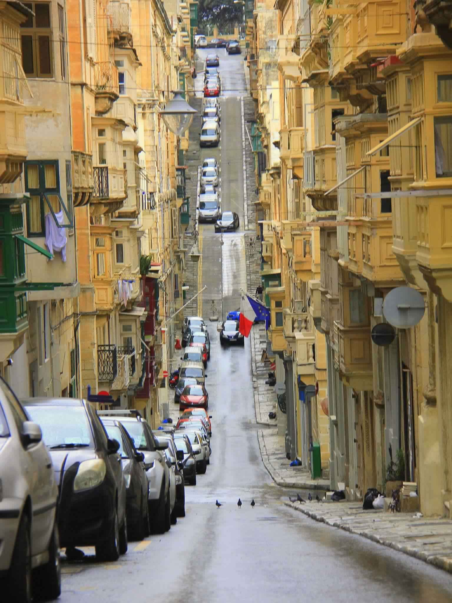 valletta is famous for steep winding roads