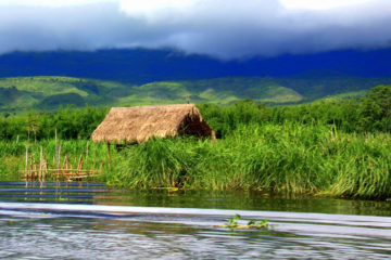 Beautiful Samkar village of Lake Inle is not easy to reach