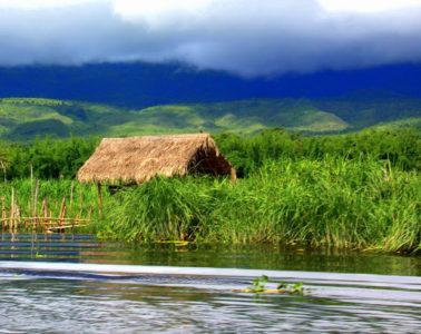 Beautiful Samkar village of Lake Inle is not easy to reach