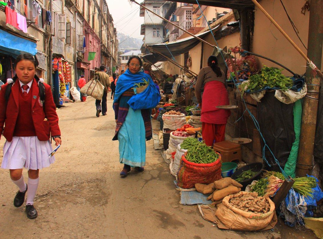 Darjeeling local market near the Lloyd Botanical Garden