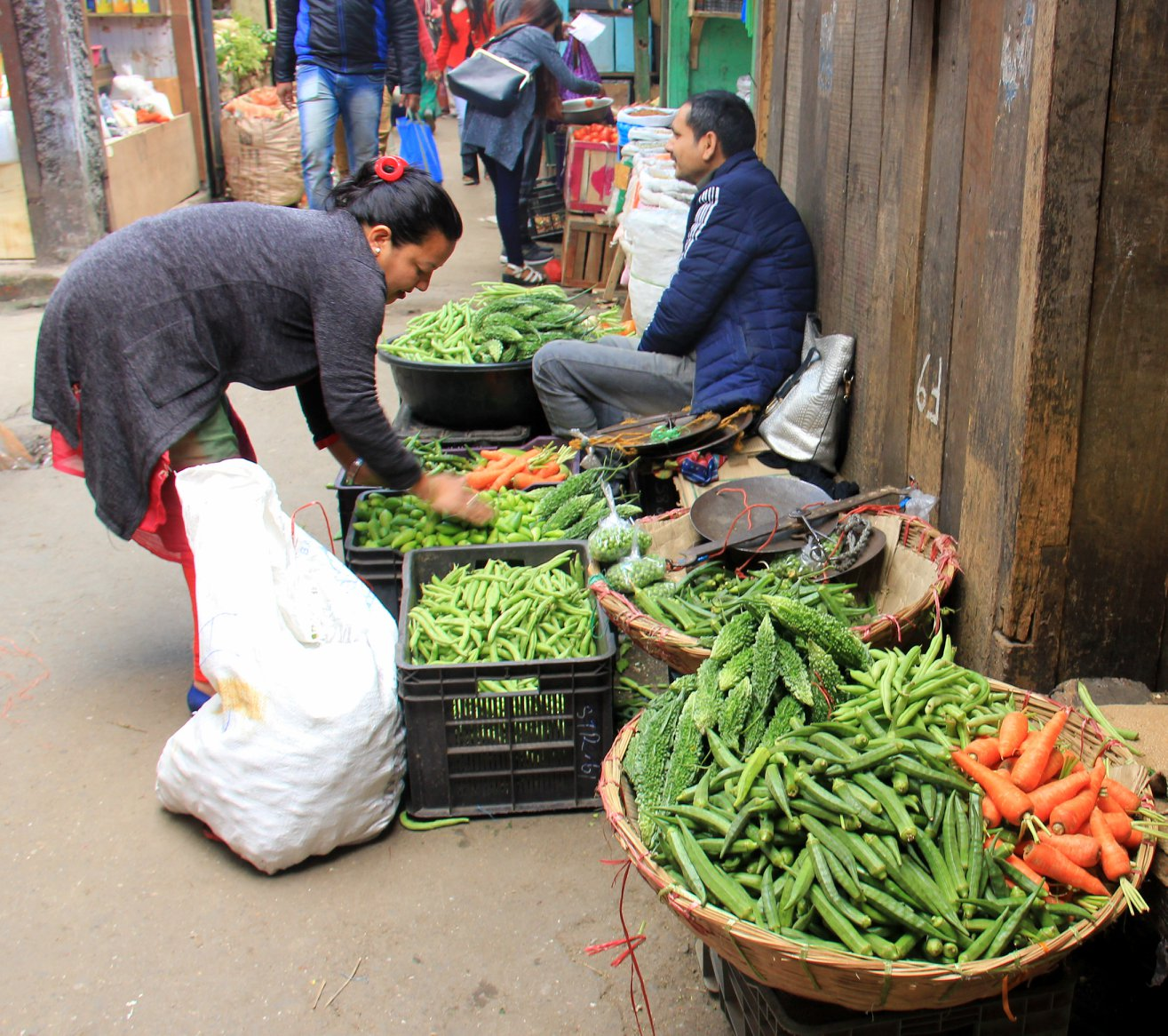 Local market in Darjeeling