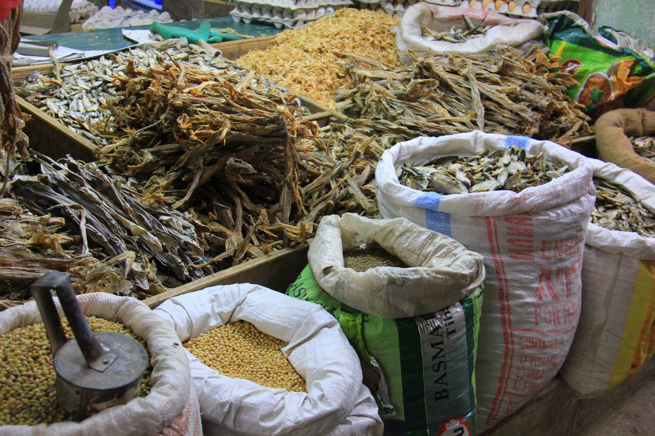 Colourful fresh produce at Darjeeling market