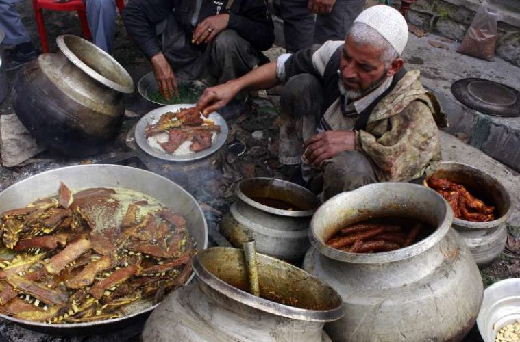 Wazas are the chefs of Kashmiri cuisine called wazwan