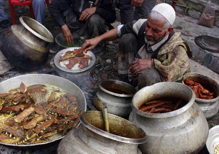 Wazas are the chefs of Kashmiri cuisine called wazwan