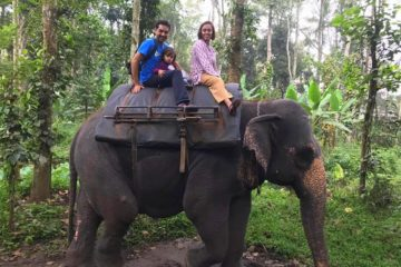 Elephant ride on our Kerala itinerary