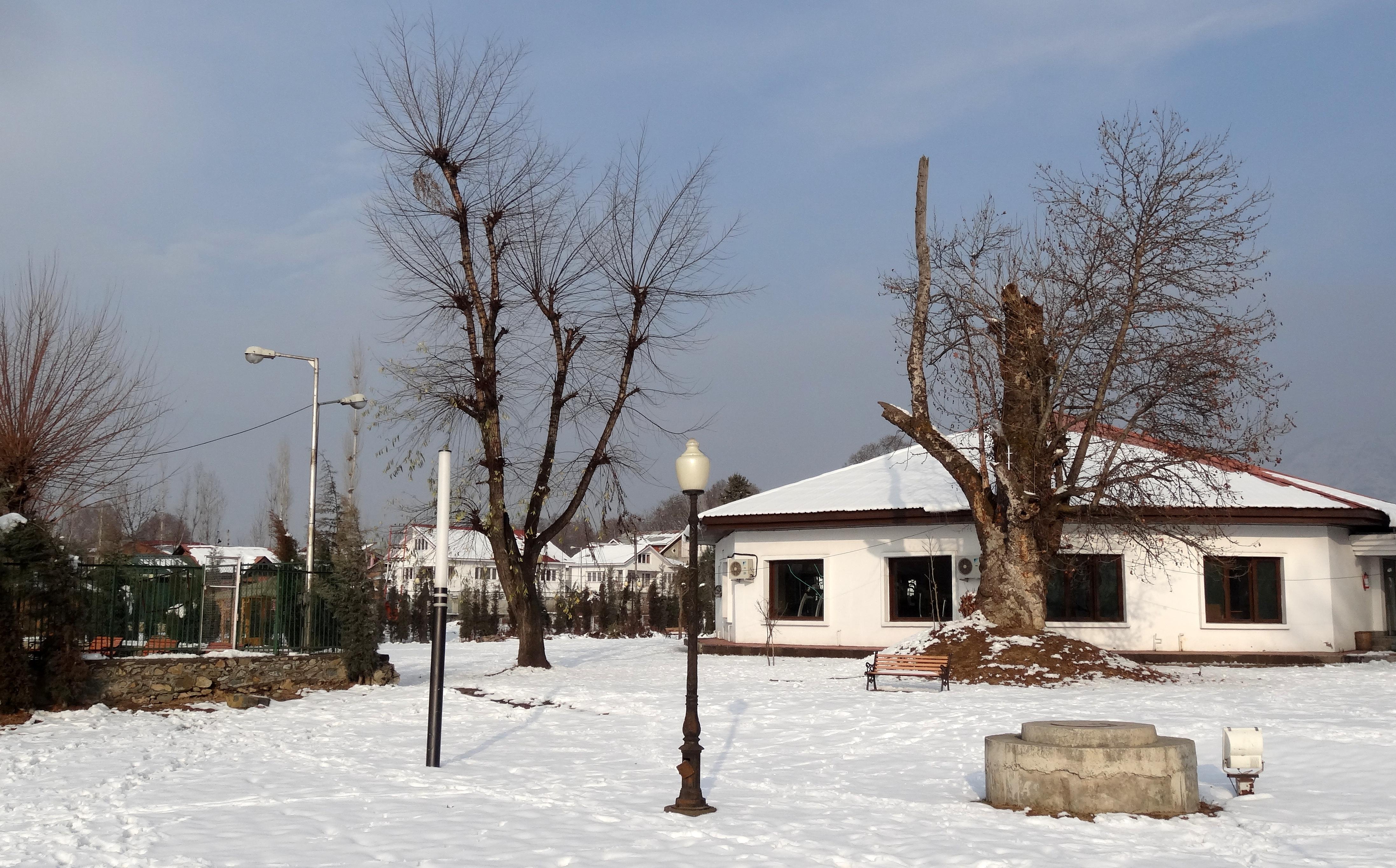 Kashmir in winter is snow filled