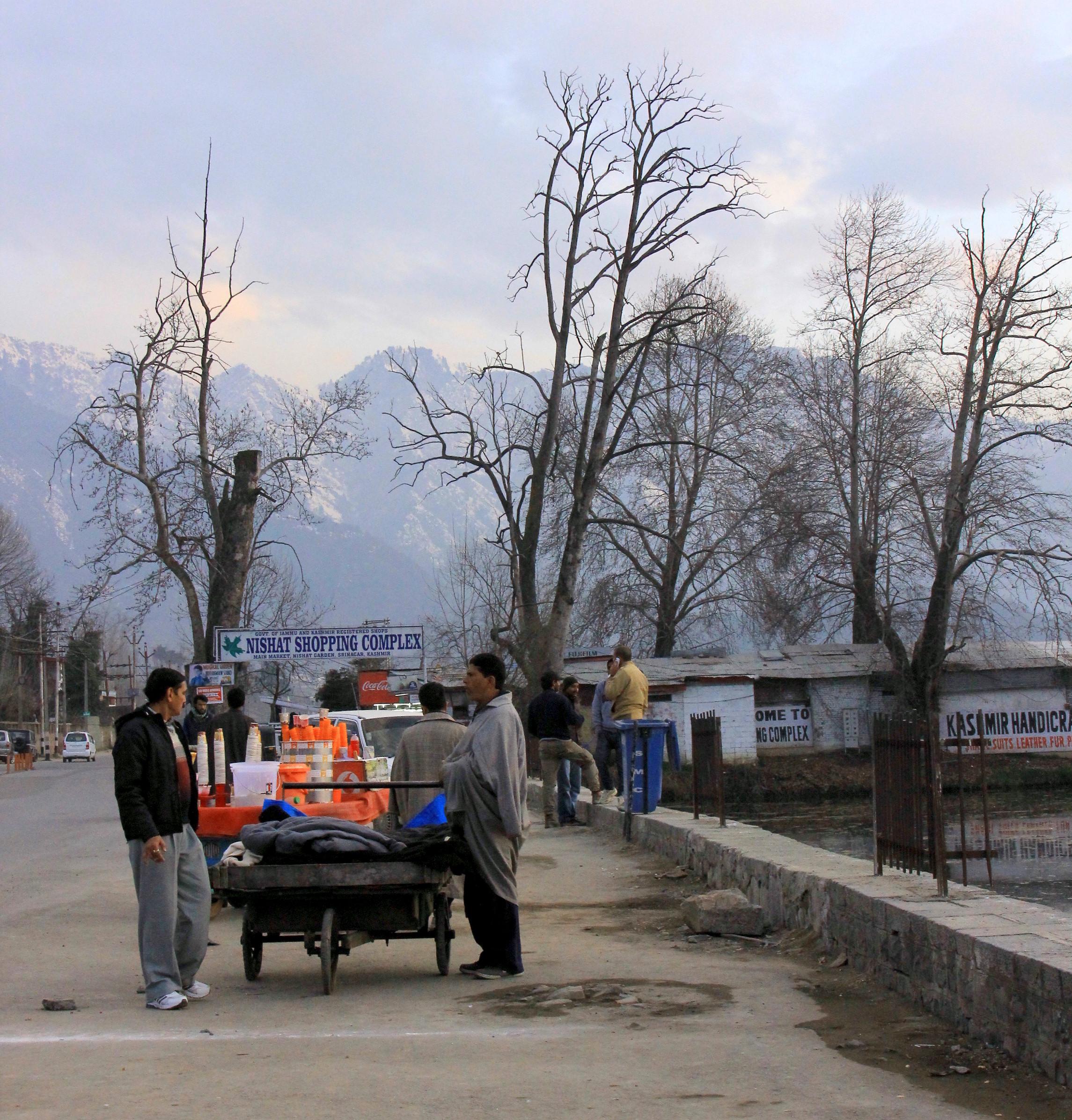 A scene from Kashmir in winter