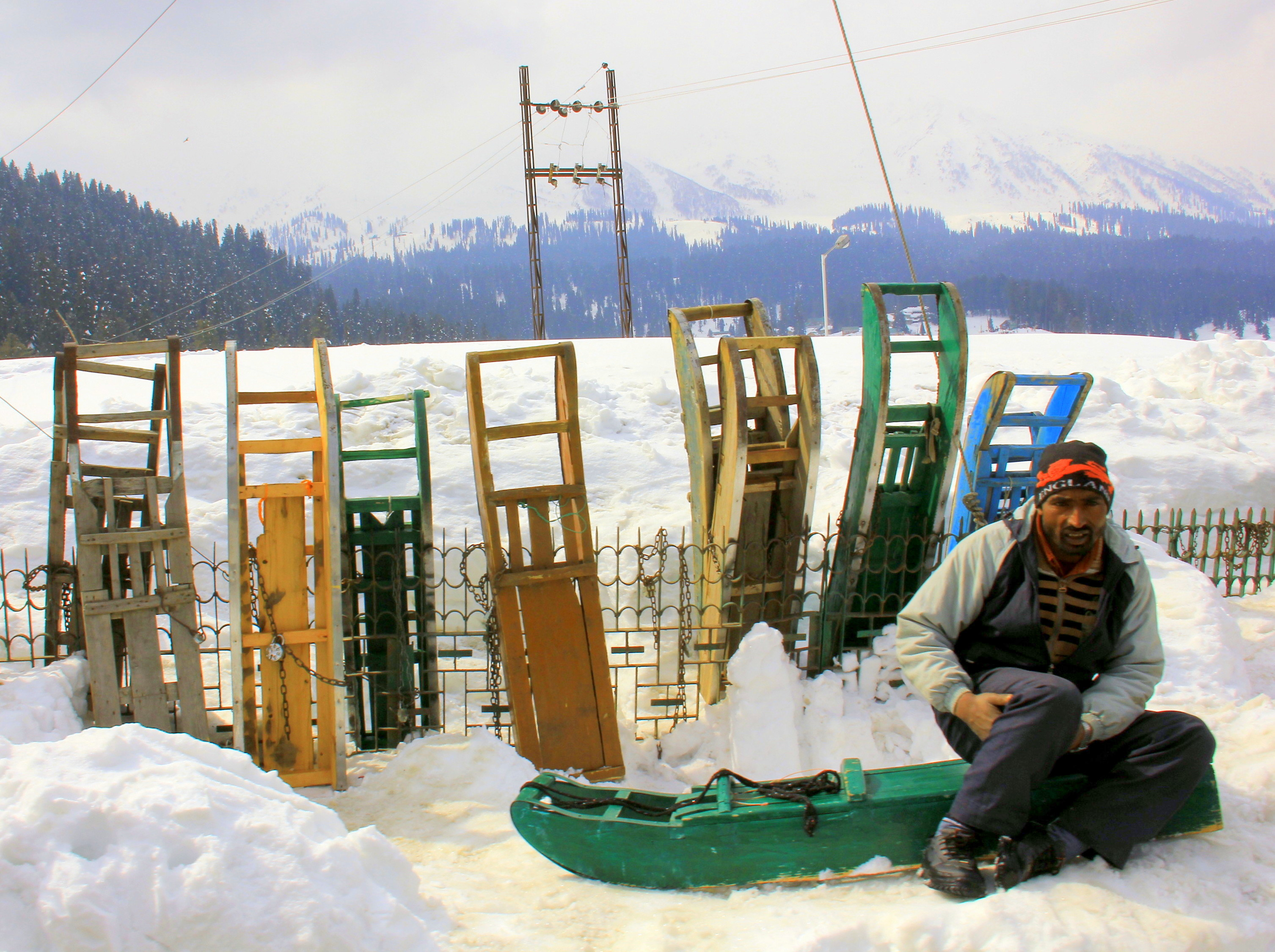 Kashmir in winter is great for skiing