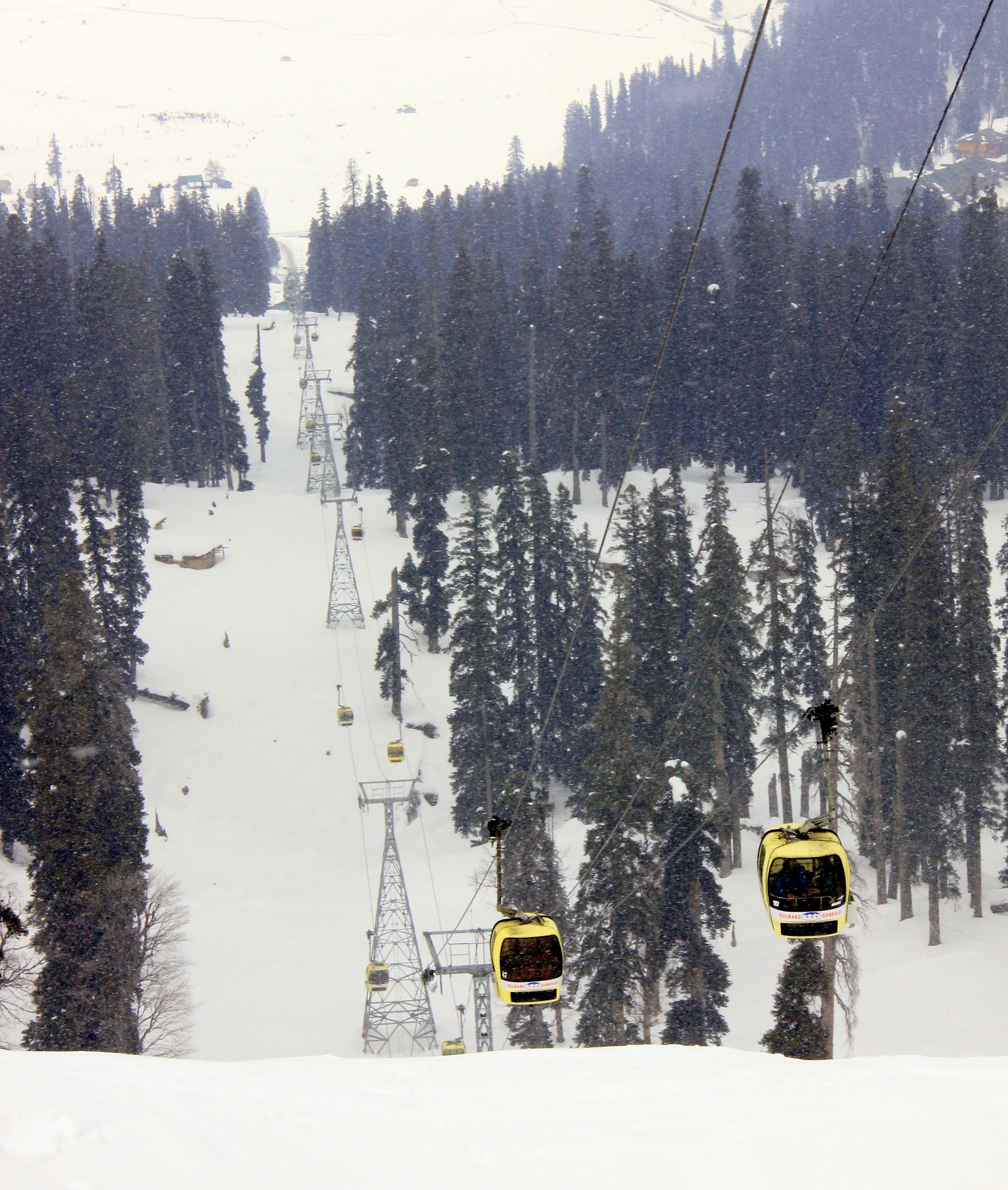 Kashmir in winter means riding the world's highest gondola