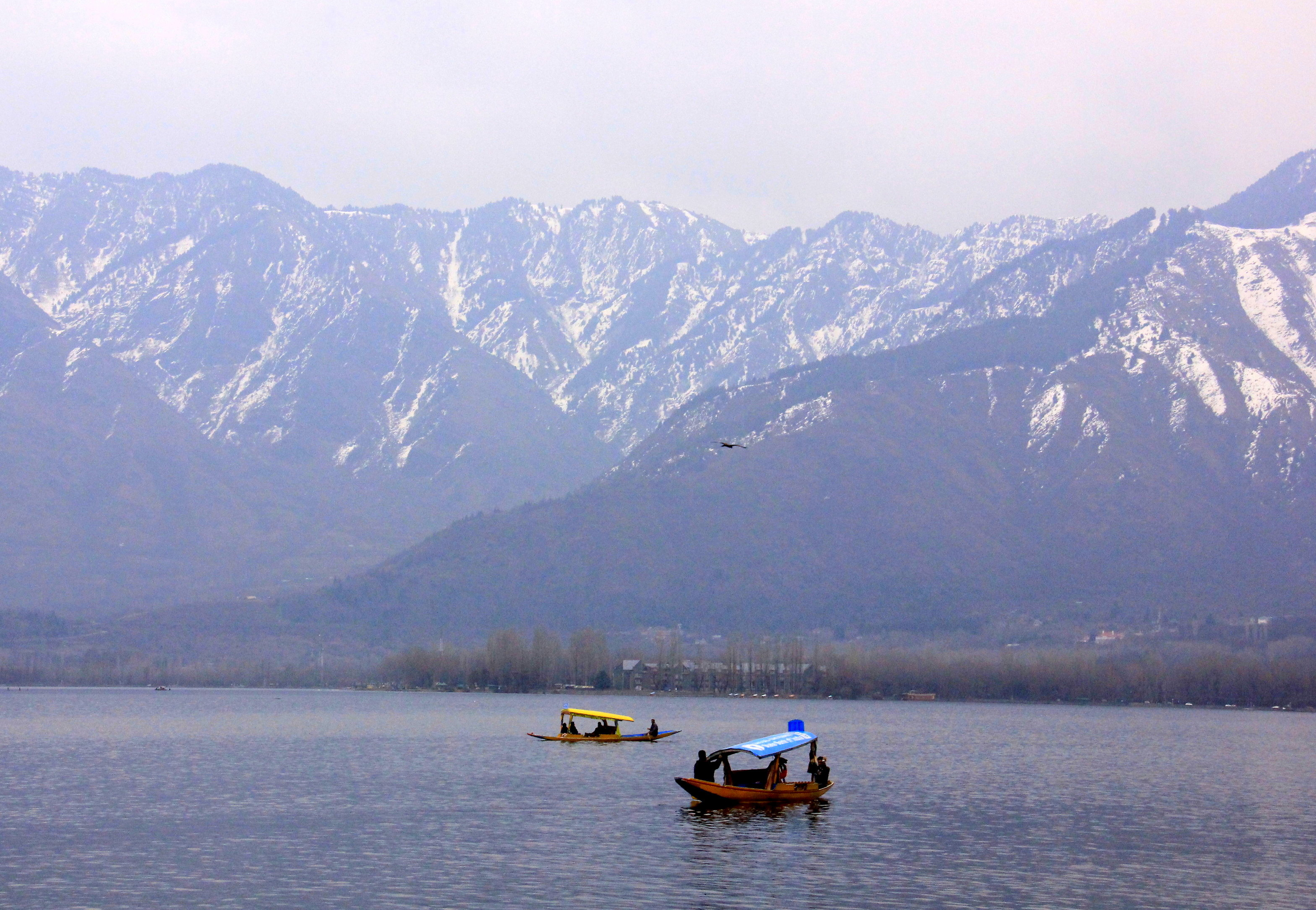 Kashmir in winter can be very cold
