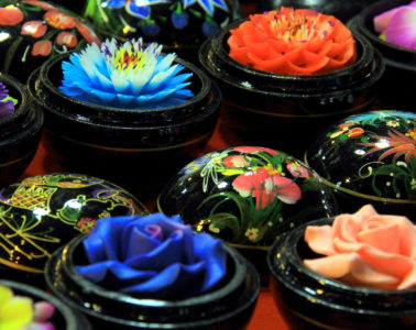 soap flowers at chiang mai night market