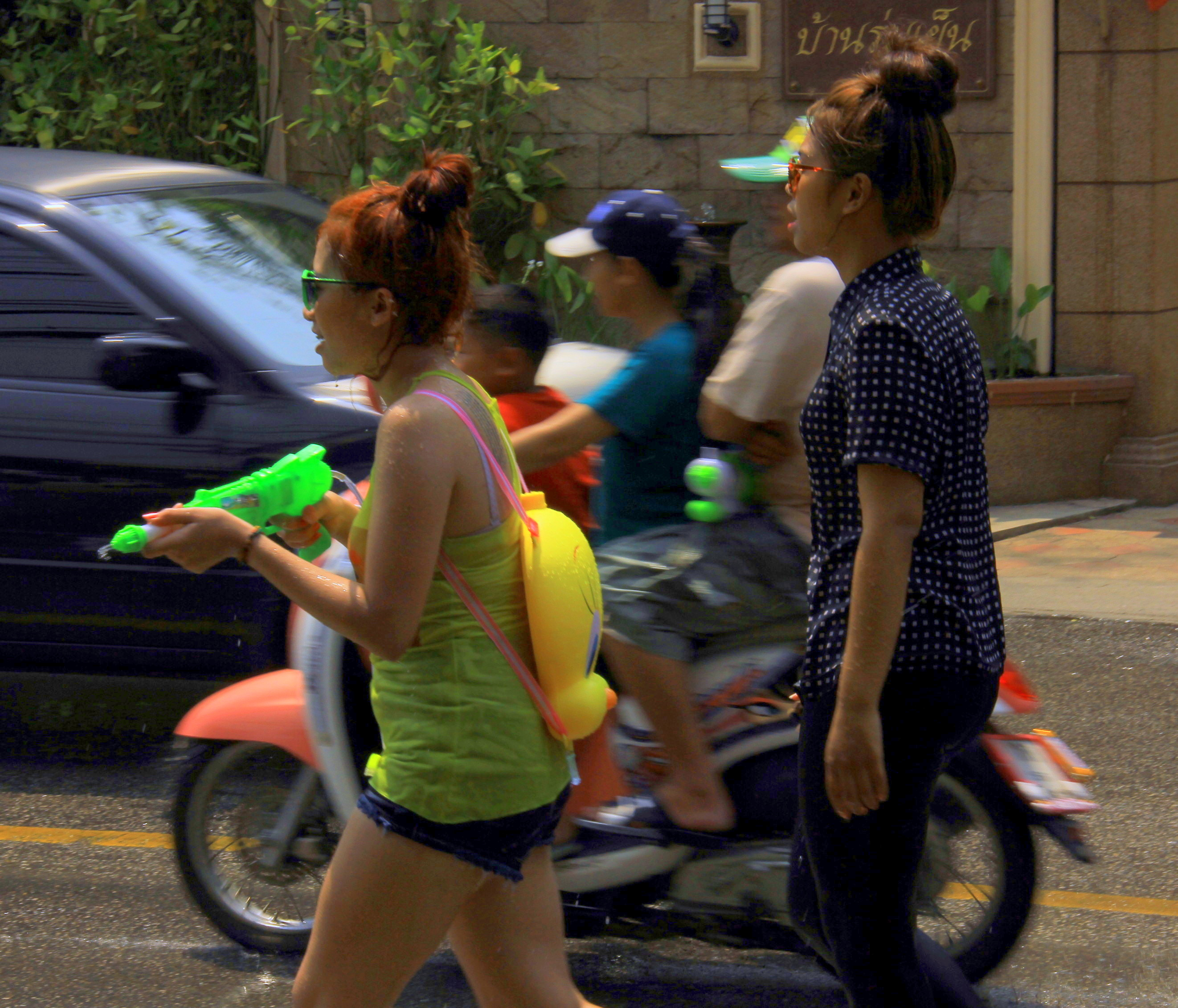 Songkran festival is a water fight