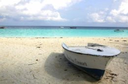 a boat on nungwi beach during my zanzibar travel