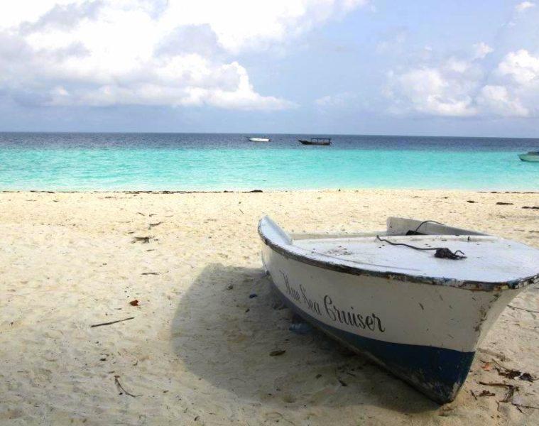 a boat on nungwi beach during my zanzibar travel