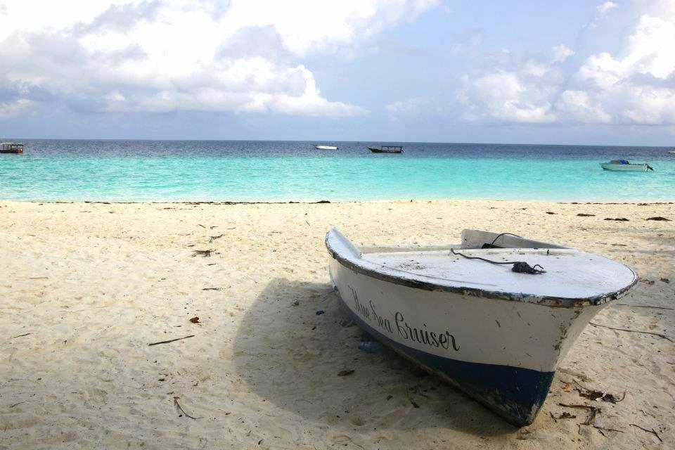 a boat on nungwi beach