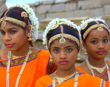 at the virupaksha temple in hampi